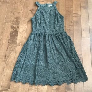 Women's Extra Small Army Green Dress